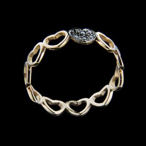 Δαχτυλίδι από ροζ χρυσό 18Κ με διαμάντια 28cebfa89fd